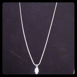 Jewelry - Sterling Silver Hand of Fatimah $25 with chain.